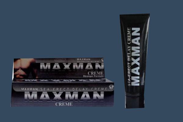 Tuýp kem bôi Maxman dùng kết hợp với viên uống để nâng cao tác dụng